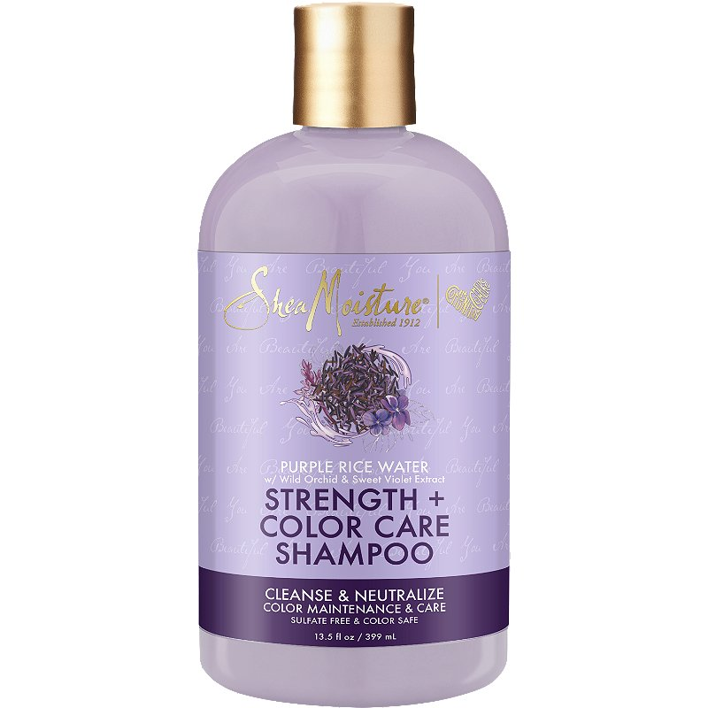 Shea Moisture Purple Rice Water Strenght & Color Care Shampoo