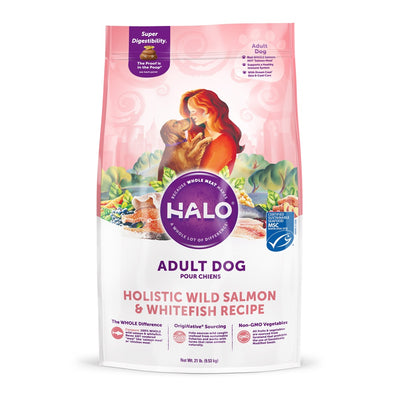 Halo Adult Holistic Wild Salmon & Whitefish Recipe Dry Dog Food
