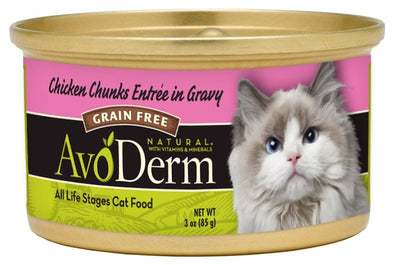 AvoDerm Natural Chicken Chunks Canned Cat Food