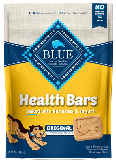 Blue Health Bars Baked With Banana & Yogurt Dog Treats