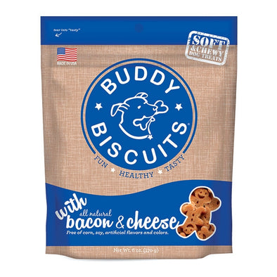 Cloud Star Buddy Biscuits Soft and Chewy Bacon and Cheese Dog Treats