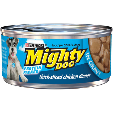 Purina Mighty Dog Thick-Sliced Chicken in Gravy Canned Dog Food