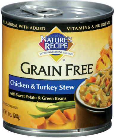 Nature's Recipe Grain Free Chicken and Turkey Stew Canned Dog Food