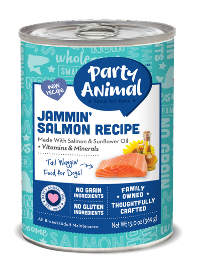Party Animal Grain Free Jammin Salmon Recipe Canned Dog Food