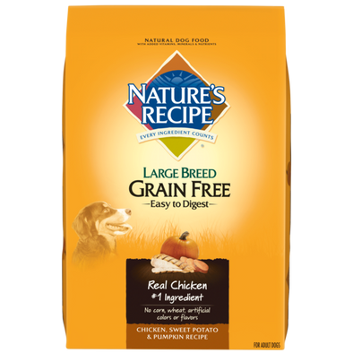Nature's Recipe Large Breed Grain Free Chicken, Sweet Potato & Pumpkin Dry Dog Food
