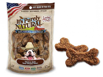 Loving Pets It's Purely Natural Chicken Jerky Bone-Shaped Dog Treats
