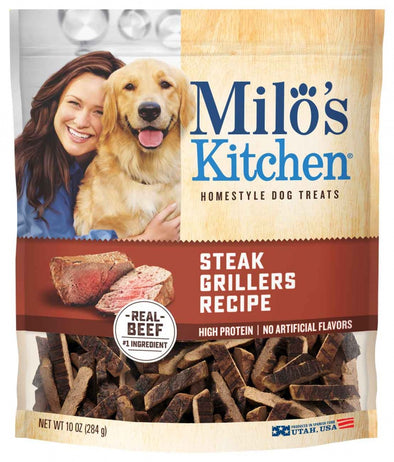 Milo's Kitchen Steak Grillers with Angus Steak Dog Treats