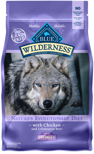Blue Buffalo Wilderness Grain Free Chicken High Protein Recipe Toy Breed Adult Dry Dog Food
