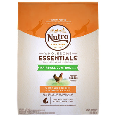 Nutro Wholesome Essentials Hairball Control Adult Chicken and Brown Rice Dry Cat Food