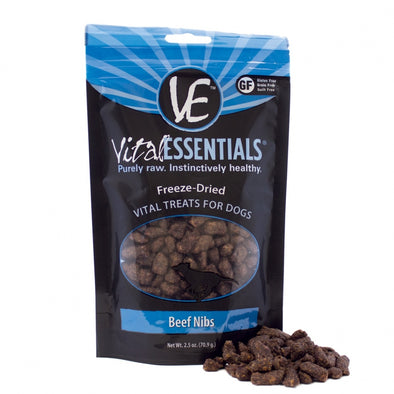 Vital Essentials Freeze Dried Beef Nibs Vital Treats for Dogs