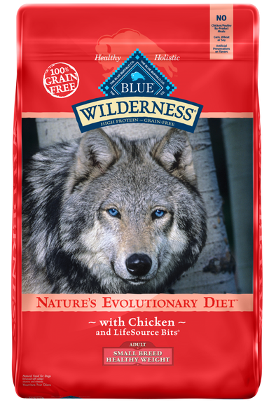 Blue Buffalo Wilderness Grain Free Healthy Weight Chicken Recipe Adult Small Breed Dry Dog Food