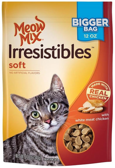 Meow Mix Irresistibles Soft White Meat Chicken Cat Treats