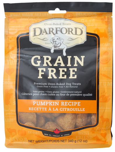Darford Grain Free Pumpkin Recipe Oven Baked Dog Treats