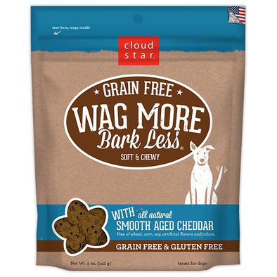 Cloud Star Wag More Bark Less Soft and Chewy Grain Free Smooth Aged Cheddar Dog Treats