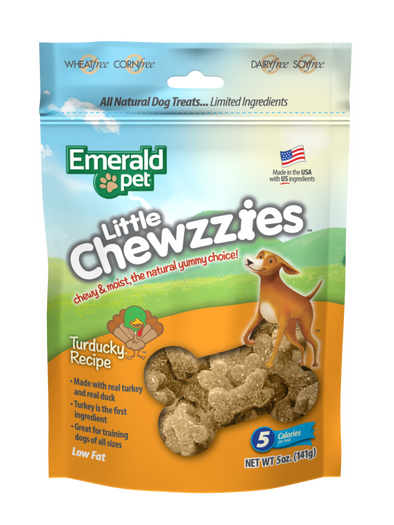 Emerald Pet Little Chewzzies Turducky Recipe Dog Treats