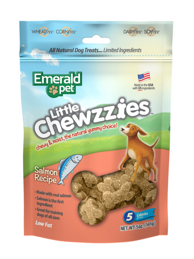 Emerald Pet Little Chewzzies Salmon Recipe Dog Treats