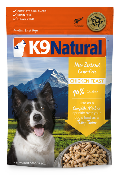 K9 Natural Chicken Feast Raw Freeze-Dried Dog Food