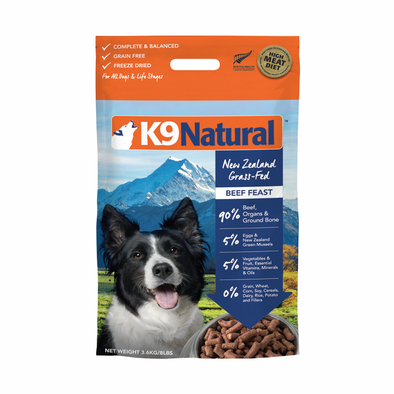 K9 Natural Beef Feast Raw Freeze-Dried Dog Food