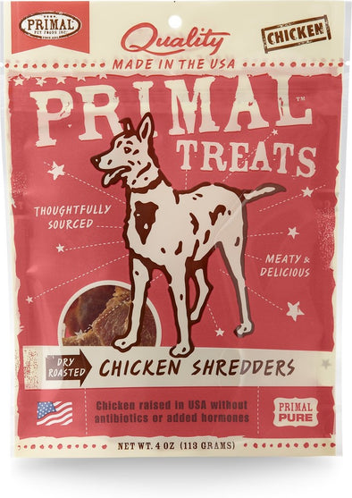 Primal Dry-Roasted Grain Free Chicken Shredders Dog Treats