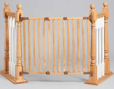 Kidco Angle Mount Wood Safeway Wall Mounted Pet Gate