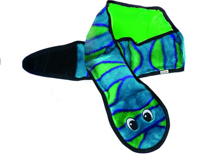 Outward Hound Invincibles Snakes Blue/Green Squeak Dog Toy