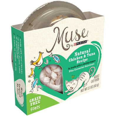 Purina Muse Grain Free Chicken and Tuna in Broth with Shrimp Topper Canned Cat Food
