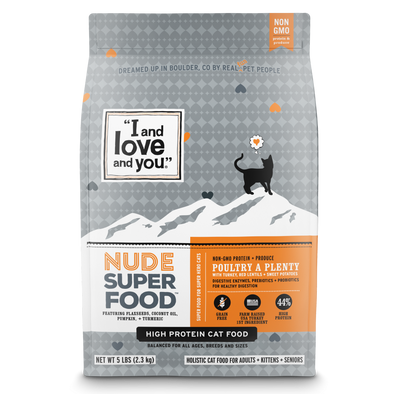 I and Love and You Grain Free Nude Super Food Poultry A Plenty Dry Cat Food