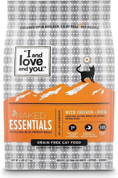 I and Love and You Grain Free Naked Essentials Chicken & Duck Dry Cat Food