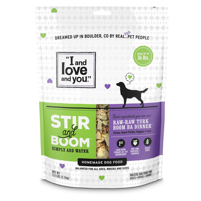 I and Love and You Grain Free Stir and Boom Raw Raw Turk Boom Ba Dehydrated Raw Dog Food