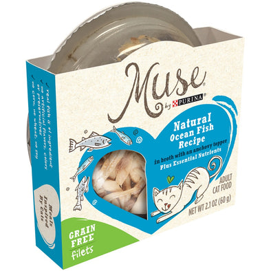 Purina Muse Adult Grain Free Natural Ocean Fish Recipe Wet Cat Food Trays