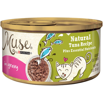 Purina Muse Natural Adult Grain Free Tuna Recipe in Gravy Canned Cat Food