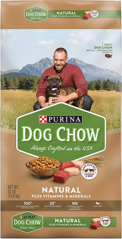 Purina Dog Chow Natural Chicken & Beef Plus Vitamins and Minerals Dry Dog Food