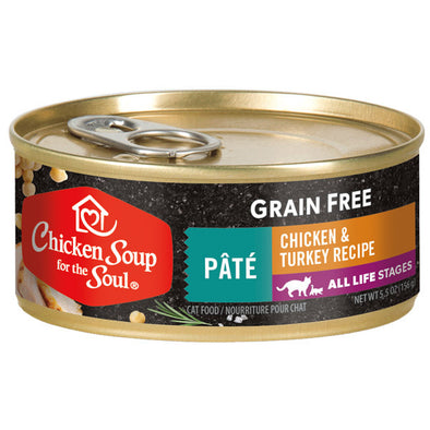 Chicken Soup For The Soul Grain Free Chicken & Turkey Pate Recipe Canned Cat Food
