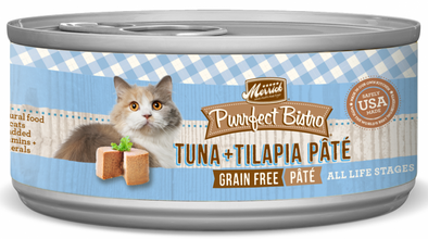 Merrick Purrfect Bistro Tuna and Tilapia Pate Grain Free Canned Cat Food