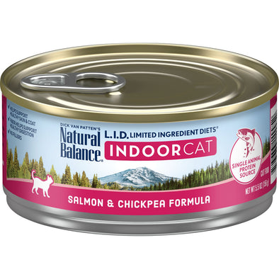 Natural Balance L.I.D. Limited Ingredient Diets Salmon & Chickpea Indoor Canned Cat Food