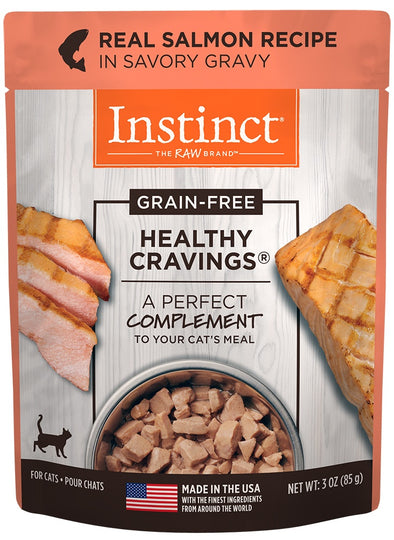 Nature's Variety Instinct Healthy Cravings Grain Free Real Salmon Recipe Natural Wet Cat Food Topper