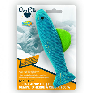 OurPets Anette Fish Catnip Filled Toy