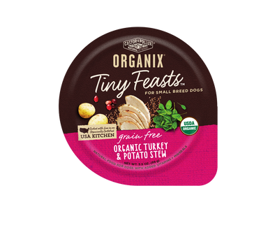 Castor and Pollux Organix Tiny Feasts Grain Free Organic Turkey and Potato Stew Wet Dog Food