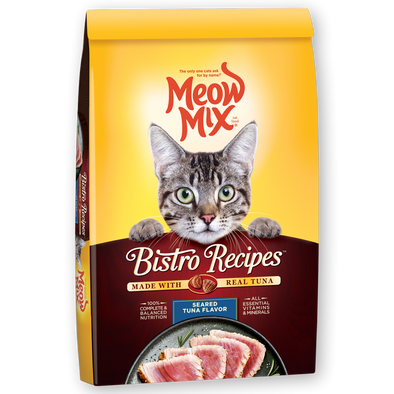 Meow Mix Bistro Recipes Seared Tuna Flavor Dry Cat Food
