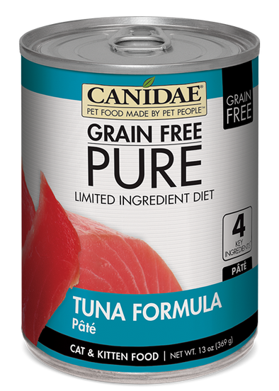 Canidae Grain Free PURE Limited Ingredient Diet Tuna Recipe Canned Cat Food