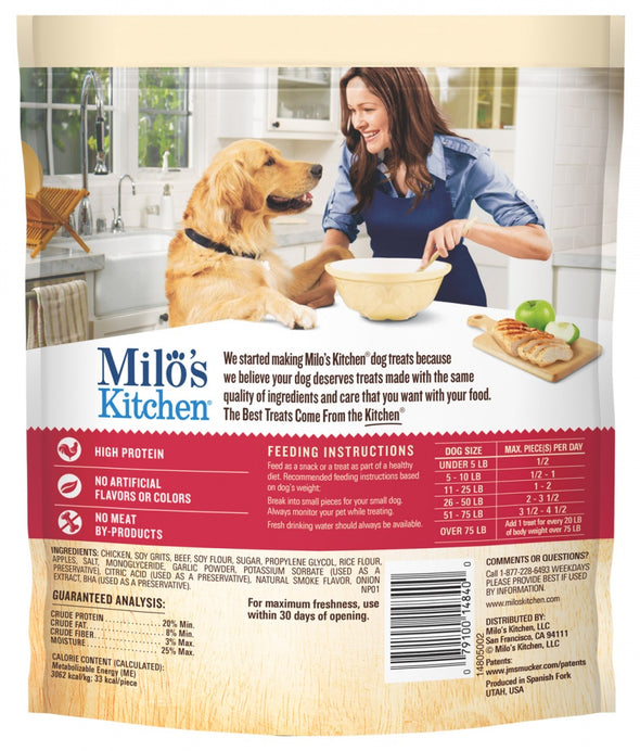 Milo's Kitchen Chicken and Apple Sausage Slices Dog Treats