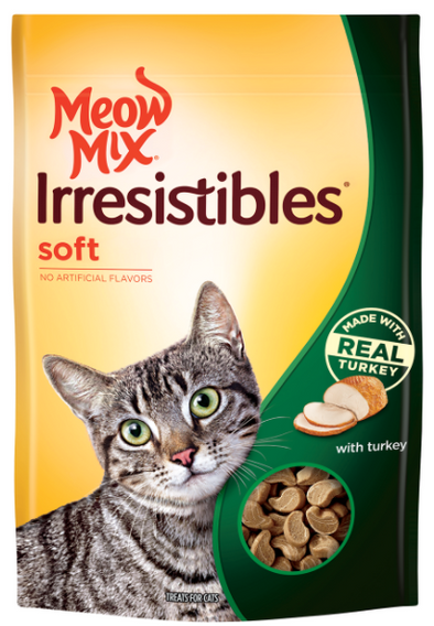 Meow Mix Irresistibles Soft Real Turkey Cat Treats