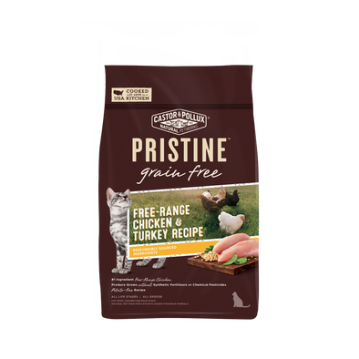 Castor and Pollux Pristine Grain-Free Free-Range Chicken and Turkey Recipe Dry Cat Food