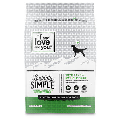 I and Love and You Lovingly Simple Grain Free LID Lamb + Sweet Potato Dry Dog Food