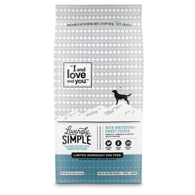 I and Love and You Lovingly Simple Grain Free LID Whitefish + Sweet Potato Dry Dog Food