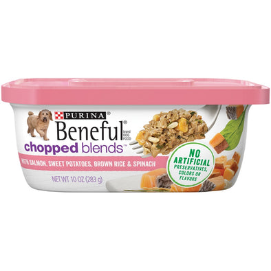 Beneful Chopped Blends With Salmon, Sweet Potatoes, Brown Rice & Spinach Wet Dog Food Tubs