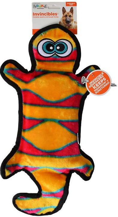 Outward Hound Invincibles Gecko Red/Orange Squeaky Dog Toy