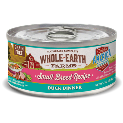 Whole Earth Farms Grain Free Small Breed Duck Recipe Canned Dog Food
