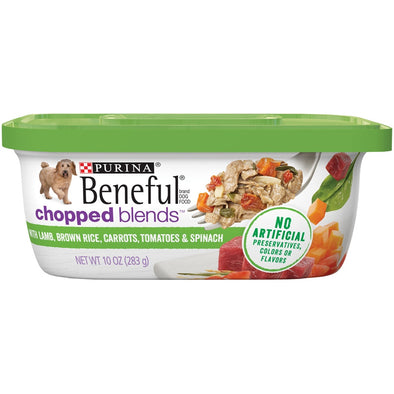 Beneful Chopped Blends With Lamb, Brown Rice, Carrots, Tomatoes & Spinach Wet Dog Food Tubs