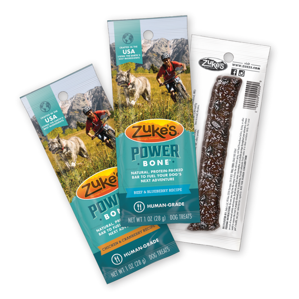 Zukes Power Bone Grain Free Beef & Blueberry Flavor Dog Treats
